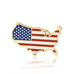 American flag lapel pins S106