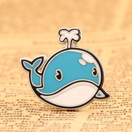 Custom Cartoon Blue Whale Pins