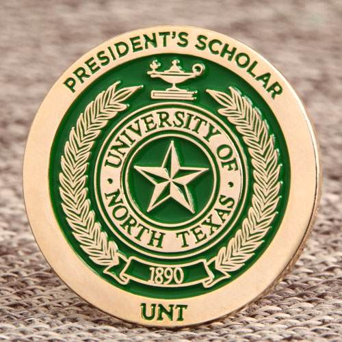 Custom UNT President Scholar Pins