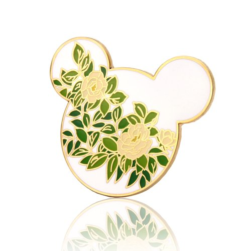 Hidden Mickey Camellia Flower Pins