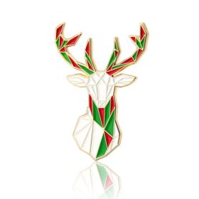 Christmas Elk Enamel Pins