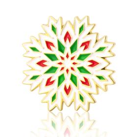 Christmas Snowflake Enamel Pins