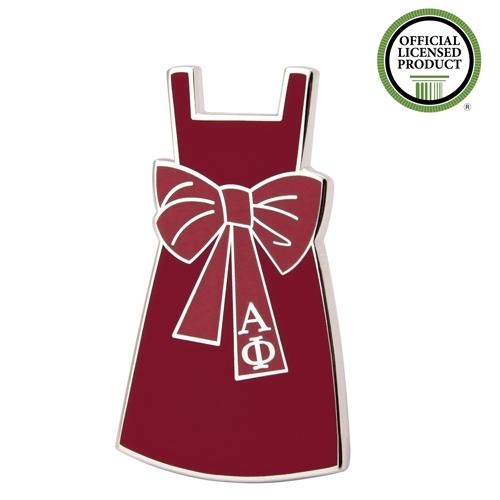 Alpha Phi Red Dress Enamel Pins