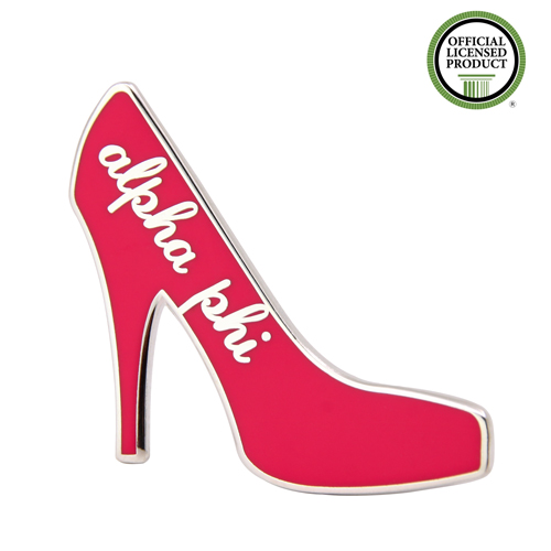 Alpha Phi High Heel Shoes Enamel Pins