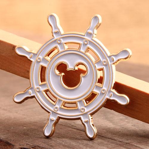 Mickey Ship Rudder Enamel Pins