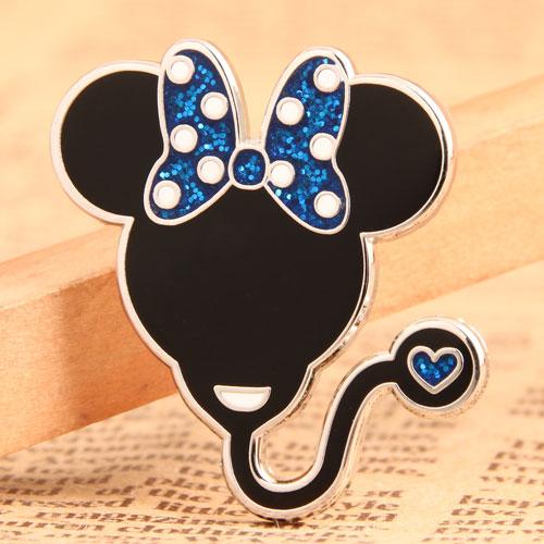 Mouse Head Balloon Custom Pins