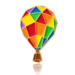 Hot Air Balloon Enamel Pins