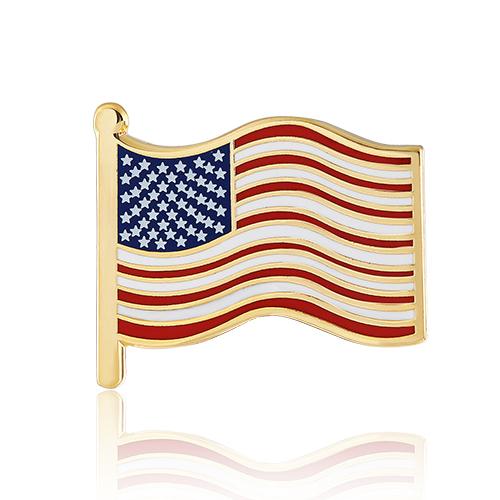 American flag lapel pins (S108)