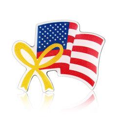 Stock American  Flag Lapel Pins (S130)