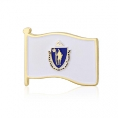 Massachusetts State Flag Pins