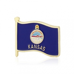 Kansas Flag Pins