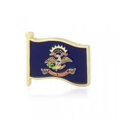 North Dakota American Flag Lapel Pins