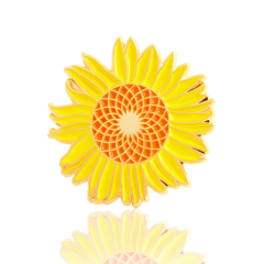 Sunflower Enamel Pins