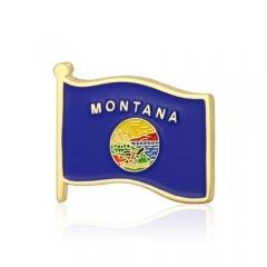 Montana American Flag Lapel Pins