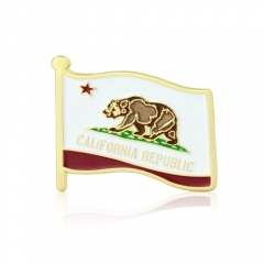 California Enamel Pins