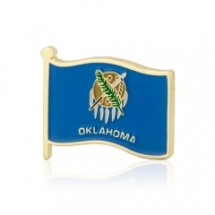 Oklahoma American Flag Lapel Pins