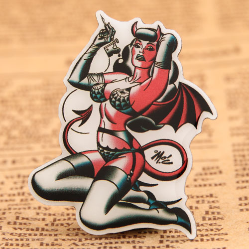 Custom Strong Girl Pins