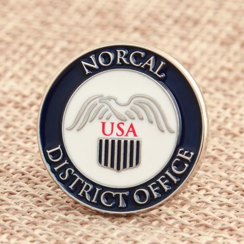 District Office Enamel Pins