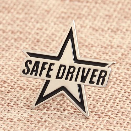 Safe Driver Enamel Pins