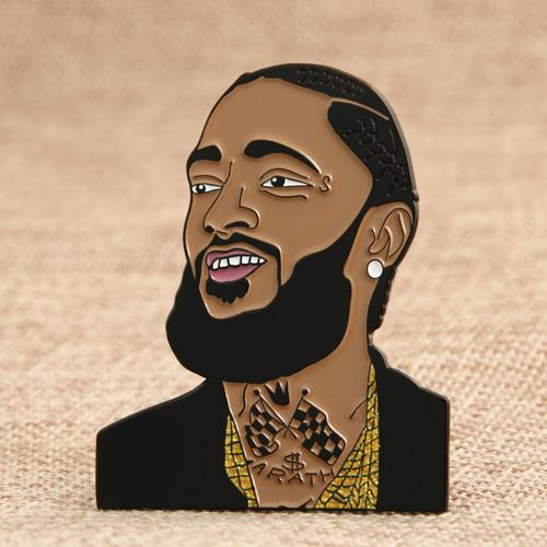 Black Man Enamel Pins