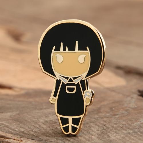 Lovely Girl Enamel Pin