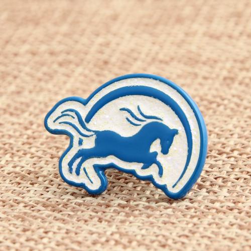 Running Horse Enamel Pins