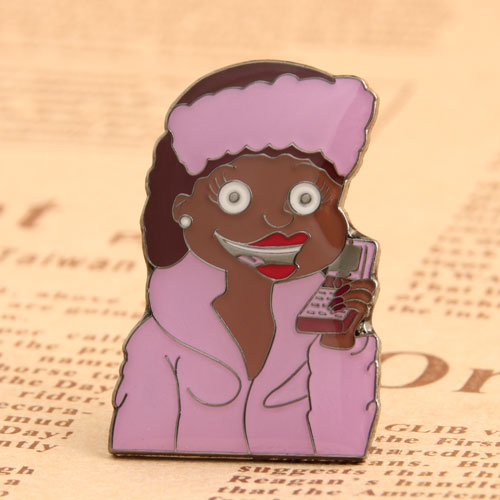 Calling Woman Custom Pins