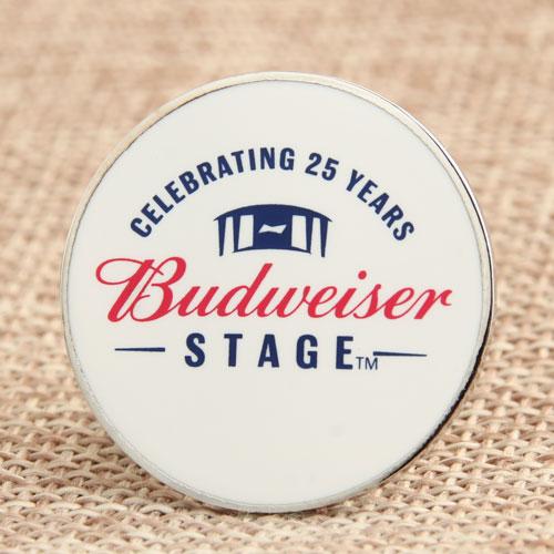 Custom Budweiser Enamel Pins