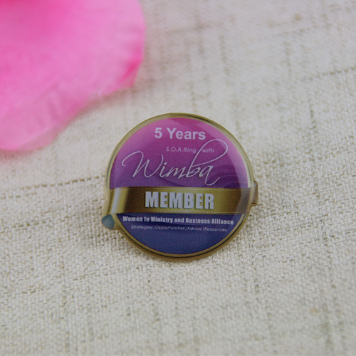 Custom 5 Years Member Pins