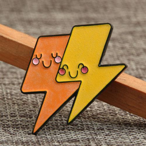 Two-Color Lightning Enamel Pins