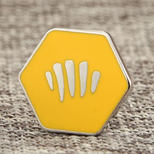 Hexagon Enamel Pins