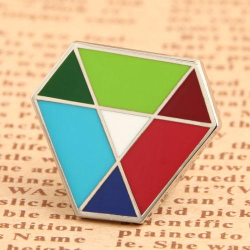 Custom Diamond Enamel Pins