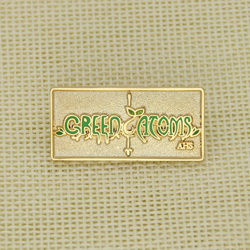 Green Atoms Stock Enamel Pins