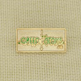 Green Atoms Stock Enamel Pins