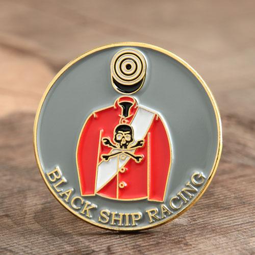 Black Ship Racing Pins