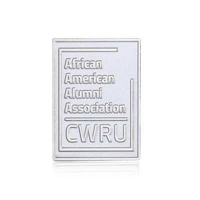 Shiny Silver Enamel pins