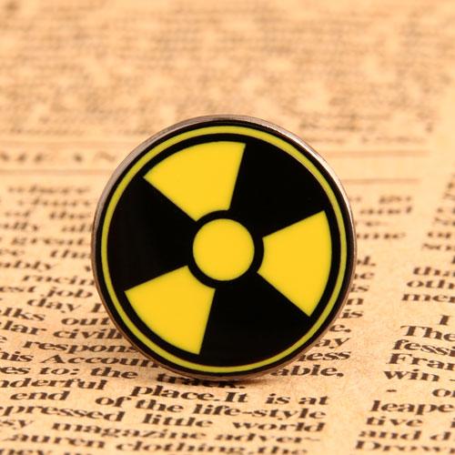 Radiation Symbol Enamel Pin