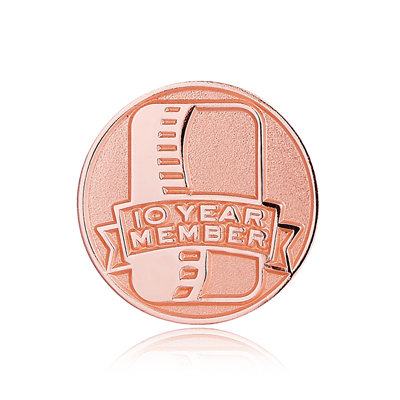Ten-year Enamel Pins No Minimum