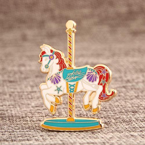 Custom Merry-Go-Round Enamel Pins