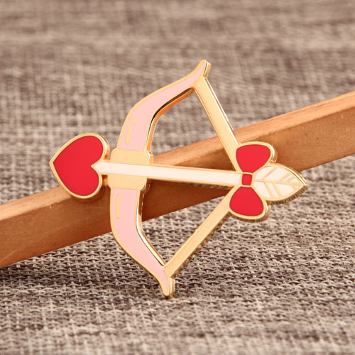 Cupid's Arrow Enamel Pins
