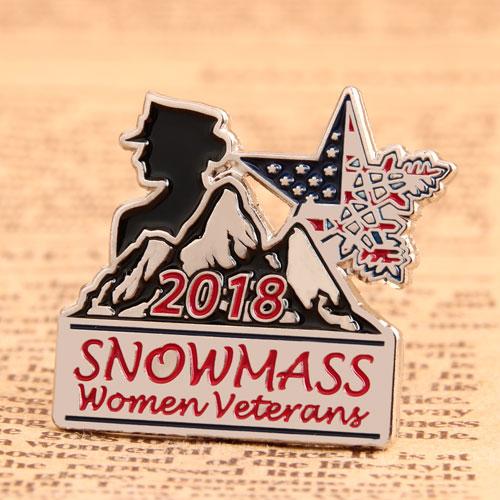 Snowmass Women Veterans Custom Pins Cheap