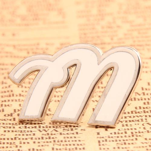 Custom M Enamel Pins No Minimum