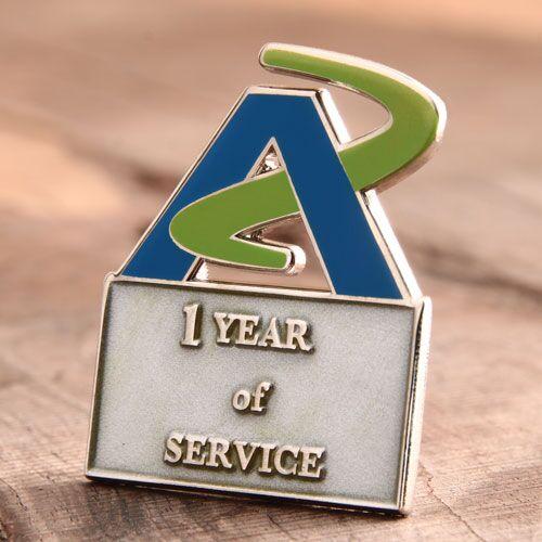 AZ Service Enamel Pins