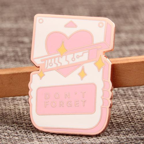 Pink Heart Enamel Pin