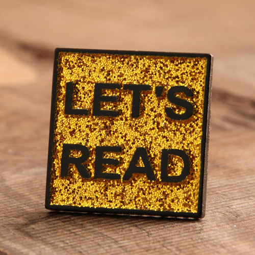 Let's Read Enamel Pins