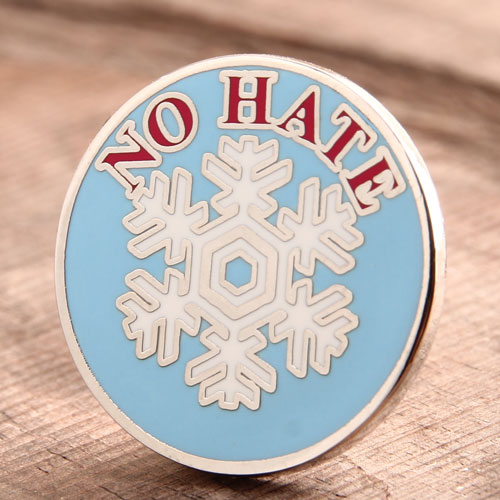 Custom NO HATE Enamel Pins