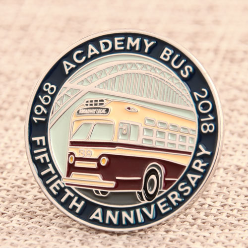 Academy Bus Enamel Pins