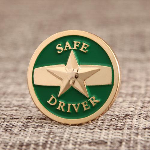 Safe Driver Enamel Lapel Pins