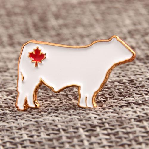 Custom White Cow Pins