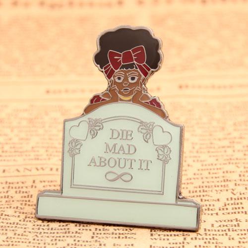 Custom Tomb Girl Enamel Pins